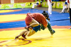 Sambo or Self-defense without weapons. Competitions girls... ... Royalty Free Stock Image