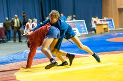 Sambo or Self-defense without weapons. Junior competitions Stock Photo