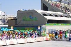 Sambodromo em Rio de janeiro durante os Olympics Rio2016 Fotos de Stock