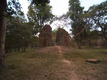 Sambor Prei Kuk w Kambodża Obraz Royalty Free