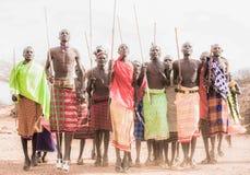 Samboru tribal dance Stock Photos