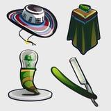 Sambrero, ponchos, y otros símbolos de México Fotos de archivo
