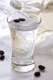Sambuca with Coffee Beans Royalty Free Stock Photo