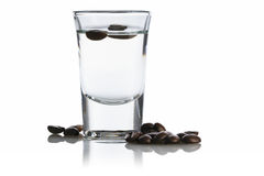 Sambuca and coffee beans Royalty Free Stock Image