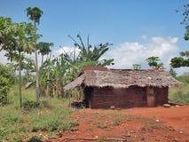 Samburu hut. DIANI BEACH - NOVEMBER 28: Rural hut in the village of Samburu tribe - November 28, 2007 in Kenya Royalty Free Stock Photos