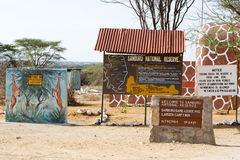 Samburu National Reserve gate Stock Photos
