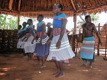 Samburu wedding. Residents of the village Samburu tribe, dancing at weddings. November 28, 2007 in Kenya Royalty Free Stock Image