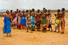 Samburu Women Dancers, Kenya Africa Stock Photography