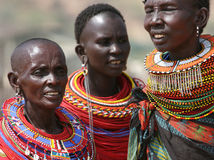 Samburu women in East Africa Royalty Free Stock Images