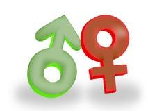 samce symbole płci żeńskiej Obraz Stock