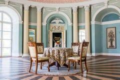 Samchiki,乌克兰- 2017年4月17日:宫殿Samchiki,乌克兰内部  免版税库存图片