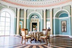Samchiki,乌克兰- 2017年4月17日:宫殿Samchiki,乌克兰内部  库存照片