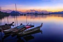 Samchong tai渔村 免版税库存照片
