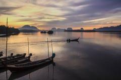 Samchong-tai visserijdorp Stock Afbeelding