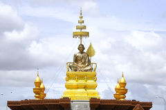 Samdach chounnat statute in Cambodia Independence Day Royal Palace Silver Pagoda Stock Image