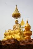 Samdach chounnatlag i pagod för Cambodja självständighetsdagenRoyal Palace silver Arkivfoton