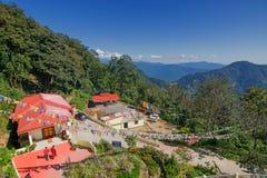 Samdruptse buddistisk kloster på Ravangla, Sikkim, Indien Arkivbilder