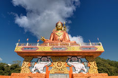Samdruptse statue , a huge buddhist memorial statue in Sikkim. Royalty Free Stock Photo