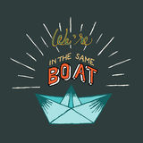 Same Boat Stock Photography