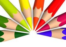 Same crayons Royalty Free Stock Images