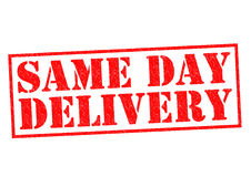 SAME DAY DELIVERY Royalty Free Stock Images
