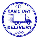 Same Day Delivery Represents Distributing Shipping And Logistics Royalty Free Stock Photo
