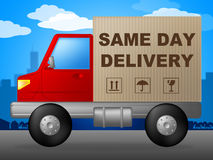 Same Day Delivery Represents Fast Shipping And Distribution Royalty Free Stock Photo