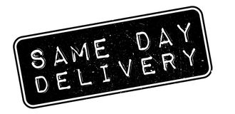 Same Day Delivery rubber stamp Stock Photo