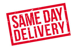 Same Day Delivery rubber stamp Stock Image