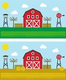 Same farm in different season Royalty Free Stock Photography