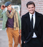 Same man different clothes Royalty Free Stock Images