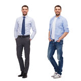 Same man in different style clothes Royalty Free Stock Photos