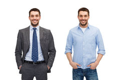 Same man in different style clothes Royalty Free Stock Image