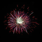 The same multi-colored fireworks Stock Photography