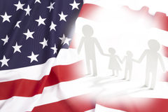 Same-sex family in USA, concept. Same-sex family in USA, flag concept Royalty Free Stock Images