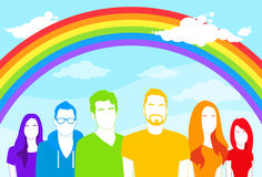 Same Sex Group of People Gay Man and Women Lesbian Royalty Free Stock Photography
