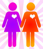 Same-sex marriage. Concept image for happily married gays and lesbians Stock Photography