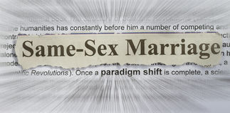 Same sex marriage. Concept with text radial blurr Stock Photo