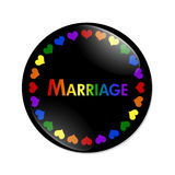 Same-sex Marriage Button Stock Photos