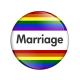 Same-sex Marriage Button Stock Image
