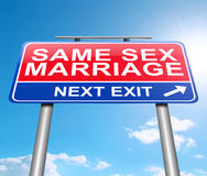 Same sex marriage concept. Stock Image