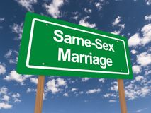Same sex marriage sign Royalty Free Stock Photography
