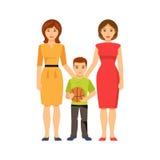 Same-sex parents. Vector illustration Stock Image