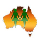 Same Sex Union Australia. An illustration for marriage equality in Australia Royalty Free Stock Photography
