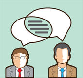 Same Thoughts Vector illustration men talking business Royalty Free Stock Photos