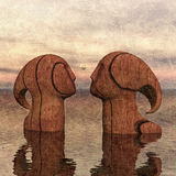 For the same timber. Carved from the same tree Royalty Free Stock Images