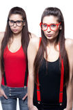 Almost The Same - Twins Royalty Free Stock Photography