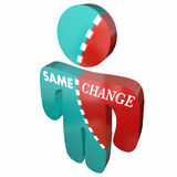 Same Vs Change Different Adapt New Innovate Person Royalty Free Stock Photos