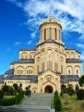 Sameba三位一体大教堂,第比利斯 图库摄影