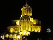 Sameba圣三一座堂在第比利斯,乔治亚 免版税库存图片